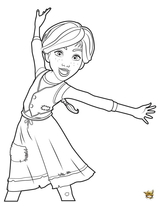 Coloriage Dessin Anime Ballerina.Felicie Est Un Coloriage De Ballerina A Imprimer