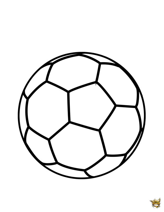 Coloriage d 39 un ballon de foot imprimer - Image de foot a imprimer ...