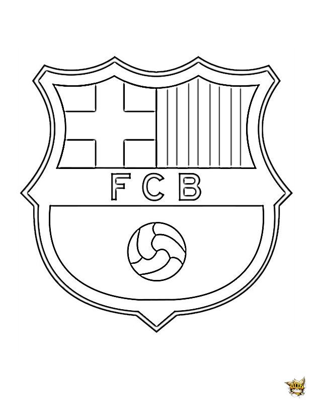 Coloriage barcelone cusson du club - Coloriage de logo de foot ...