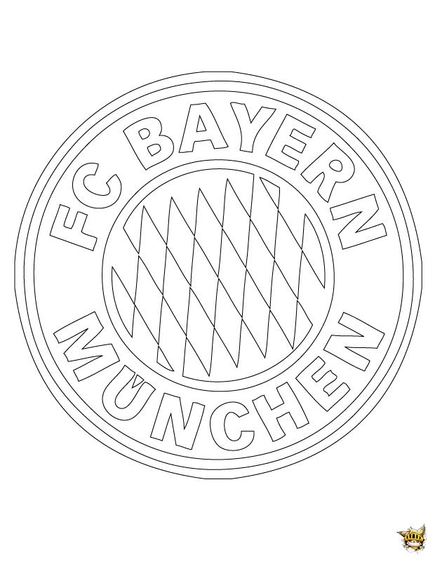 Coloriage bayern de munich cusson de l 39 quipe imprimer - Coloriage de logo de foot ...