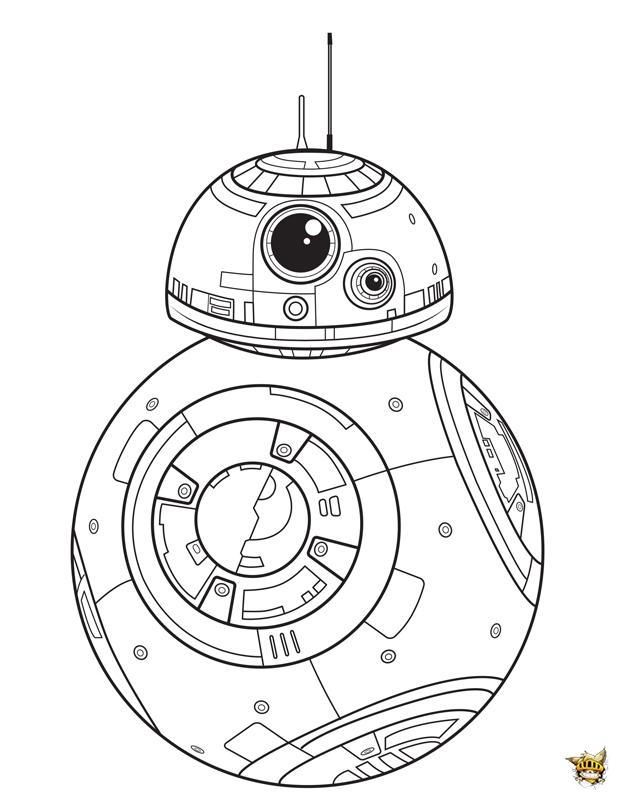 Bb8 est un coloriage de star wars - Images star wars a imprimer ...