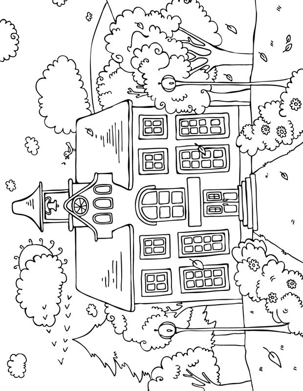 Coloriage Dune Ecole A Imprimer.Ecole Dessin Riom Dessin De Un Frere Et Une Soeur Vont A L