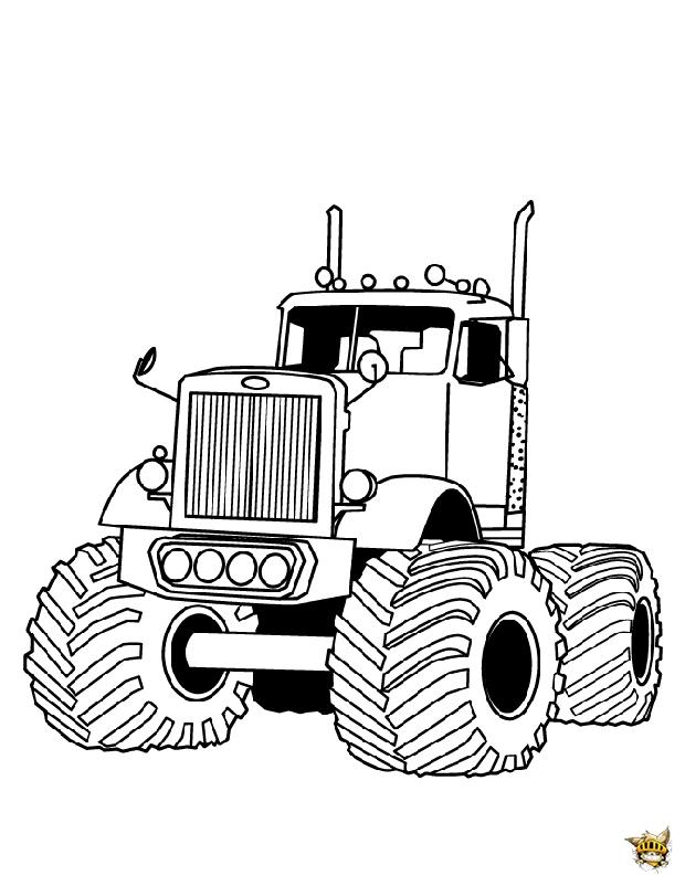Big Rit Est Un Coloriage De Monster Truck