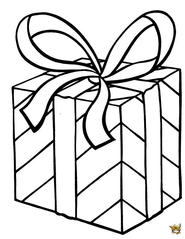 Boite à cadeau est un coloriage d'anniversaire