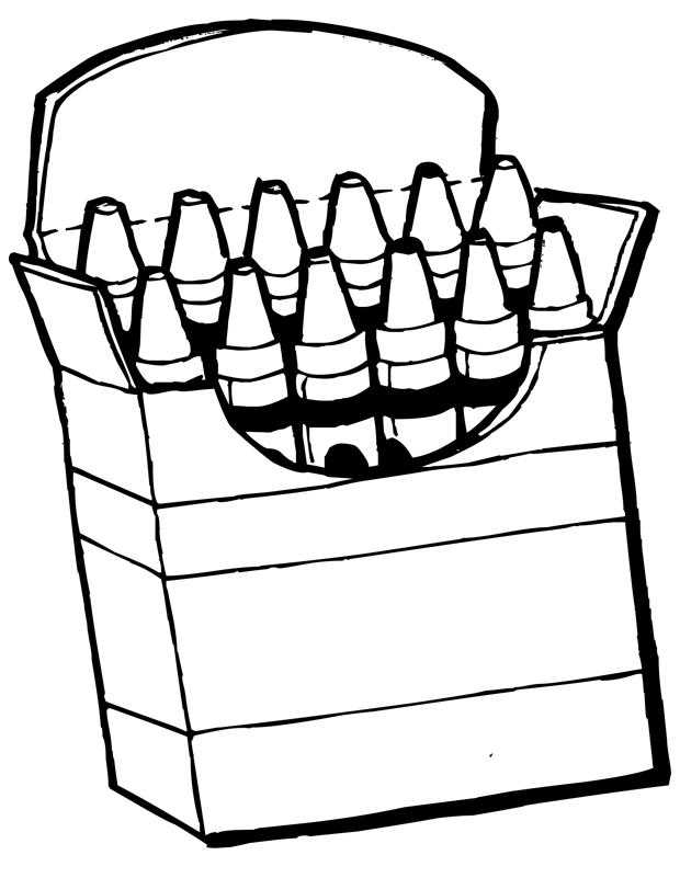 Crayons de couleur est un coloriage d 39 cole imprimer - Dessin d un cartable ...
