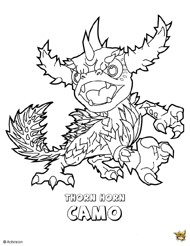 Camo est un coloriage de skylanders - Coloriages skylanders ...