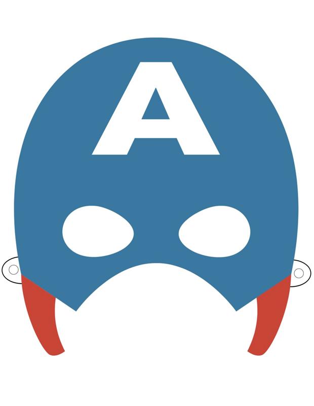 Masque de captain america imprimer et d couper - Jeux de captain america gratuit ...