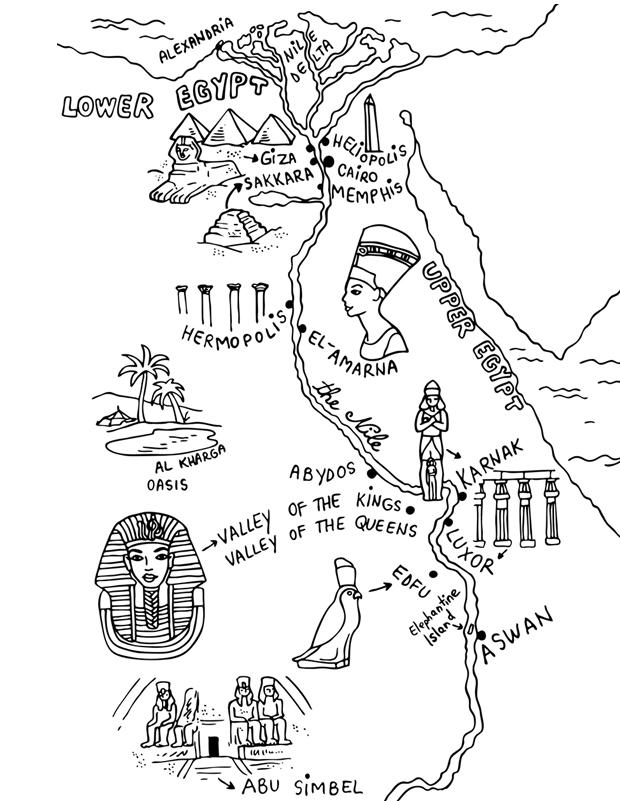 Coloriage A Imprimer Egypte Antique.Carte De L Egypte Ancienne Est Un Coloriage D Egypte