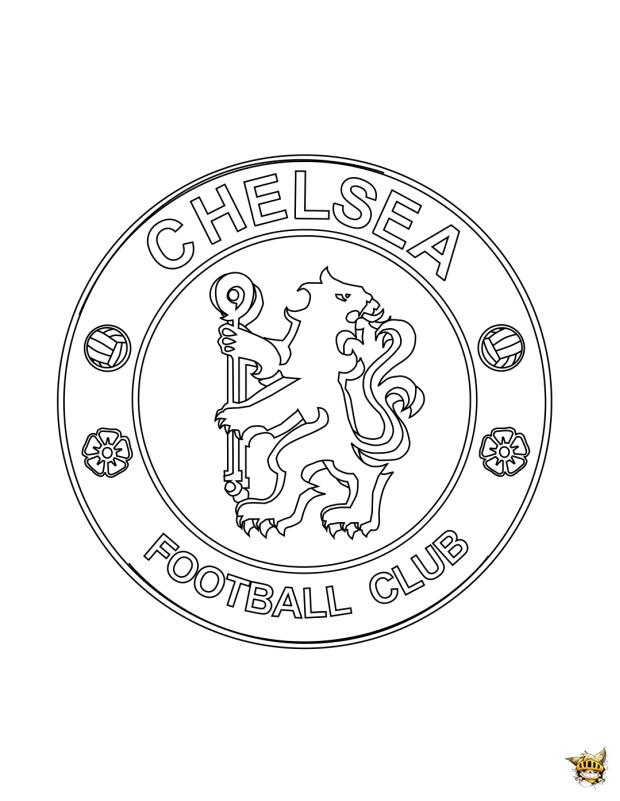 Coloriage chelsea cusson du club imprimer - Coloriage de logo de foot ...