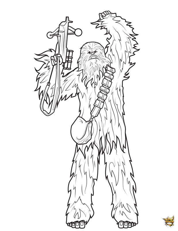 Chewbacca est un coloriage de star wars - Coloriage star wars 3 ...