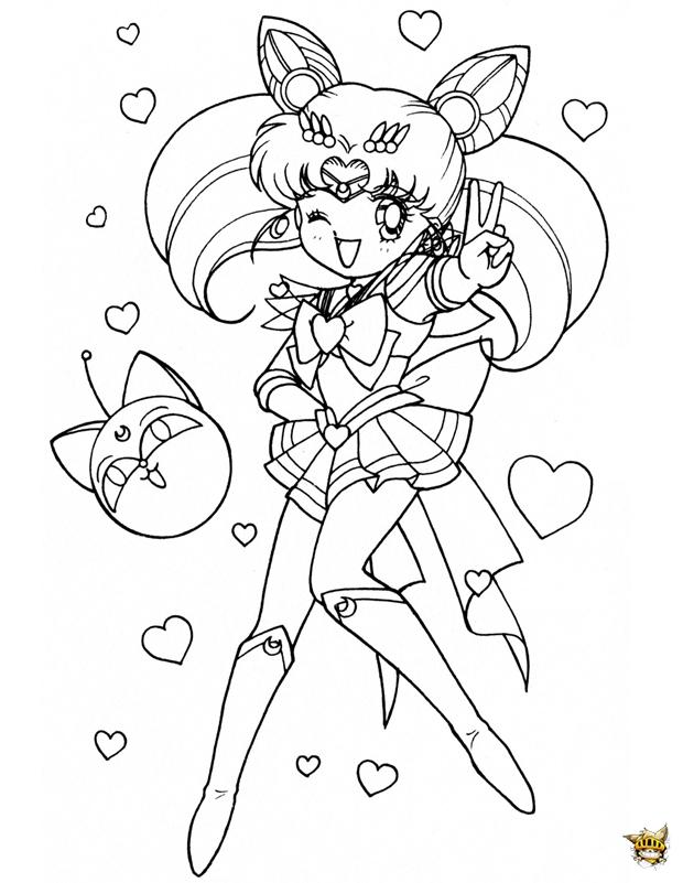 Chibi Clin D Oeil Est Un Coloriage De Sailor Moon