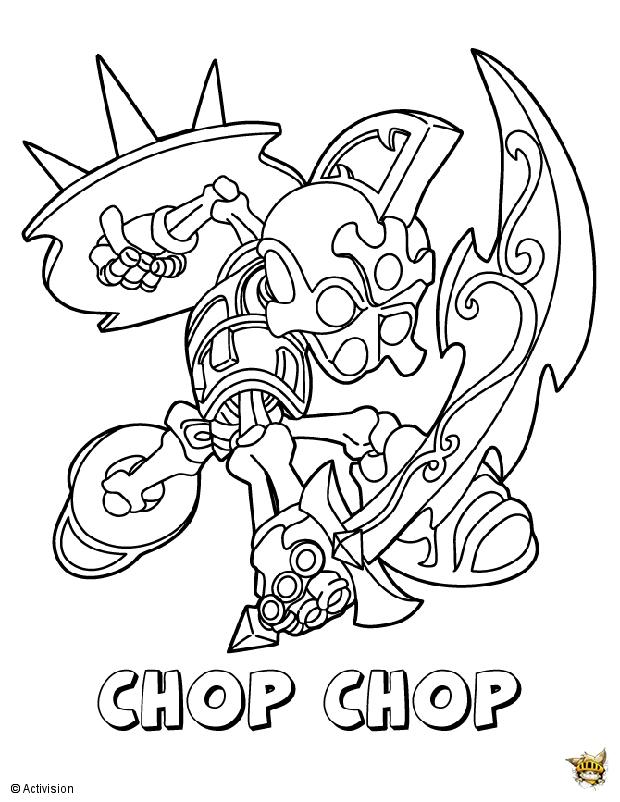 Chop chop est un coloriage de skylanders - Dessin de skylanders ...