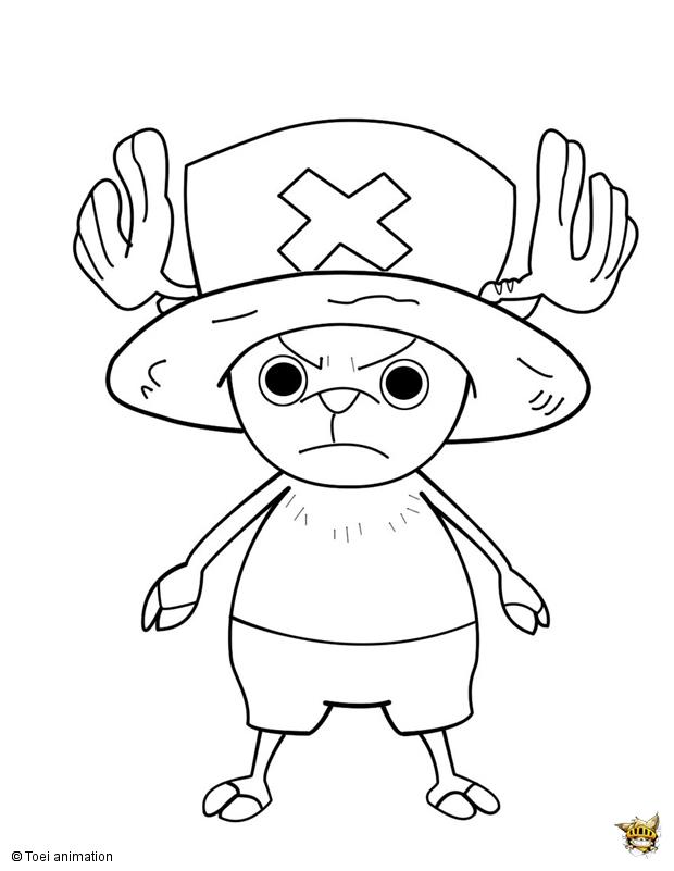 Chopper Attaque Est Un Coloriage De One Piece