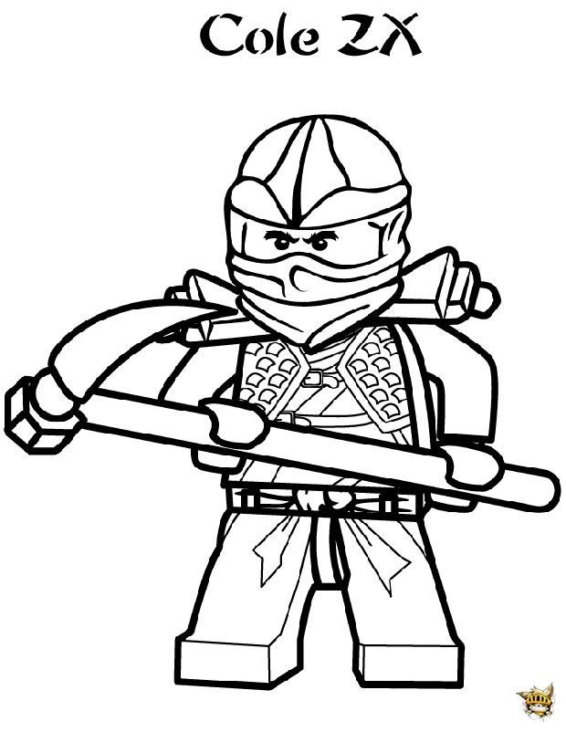 Cole zx est un coloriage de ninjago - Ninjago jeux gratuit ...