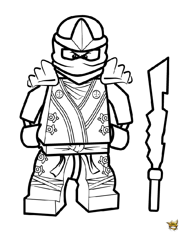 Cool kai est un coloriage de ninjago for Jay ninjago coloring pages