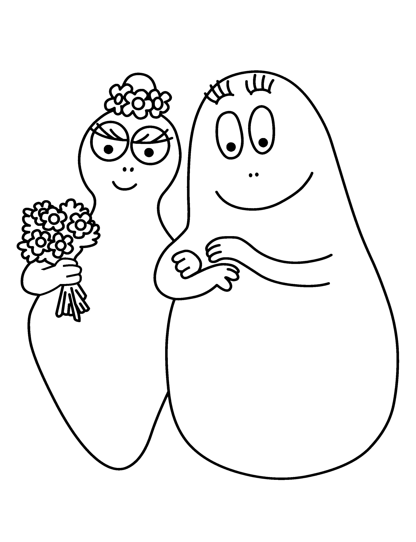 Couple Barbapapa est un coloriage de Barbapapa