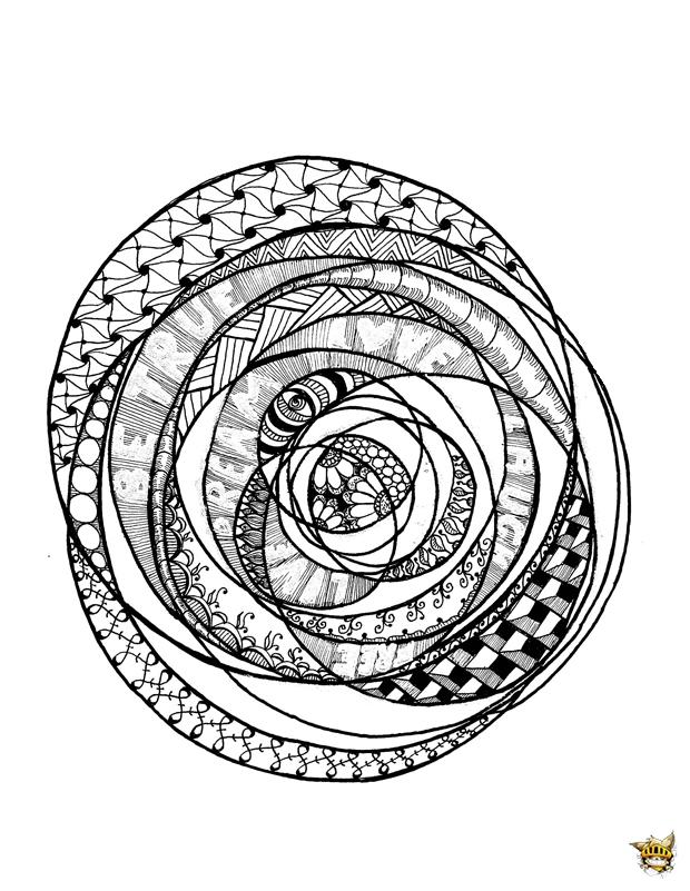 Coloriage Adulte Spirale.Coloriage Crea De Cathy Zen Pour Adultes