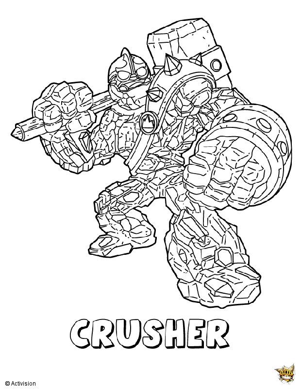 Crusher est un coloriage de skylanders - Skylanders jeux gratuit ...