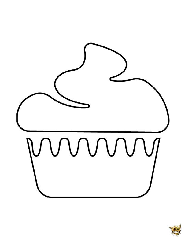 Jolie cupcake est un coloriage de cupcake - Jolie cupcake ...