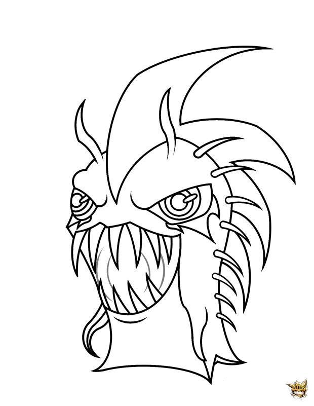 Coloriage dark urchin une slug des mondes souterrains - Dessins a colorier gratuit a imprimer ...