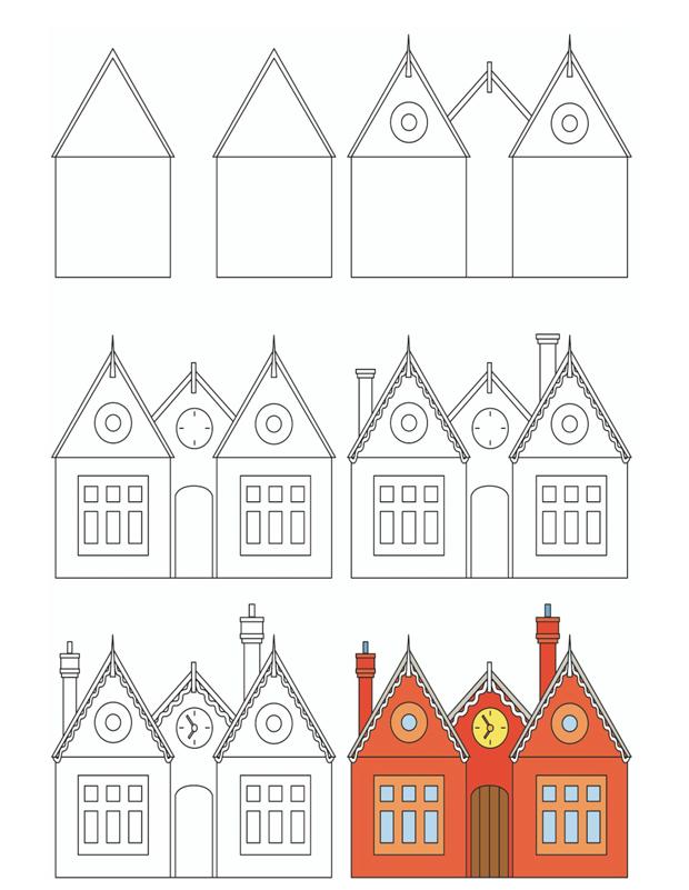 Très Dessine une école est un tuto pour apprendre à dessiner BG52