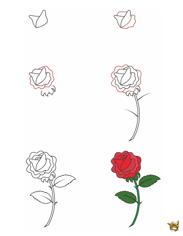 Super Apprendre A Dessiner Facilement Une Rose Qv44 Montrealeast