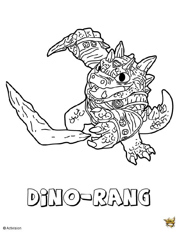 Dino rang est un coloriage de skylanders - Skylanders jeux gratuit ...