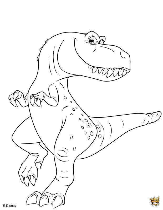 Ramsey est un coloriage du voyage d 39 arlo - Dessin de tyrannosaure ...