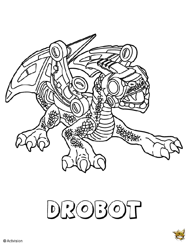 Robot Robot Est Un Coloriage De Skylanders