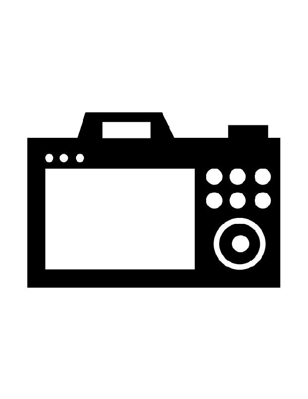 ecran appareil photo est une silhouette imprimer. Black Bedroom Furniture Sets. Home Design Ideas