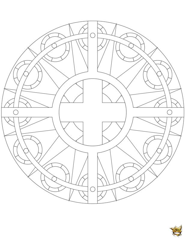 Coloriage Adulte Eglise.Coloriage Eglise Du Soleil Mandala