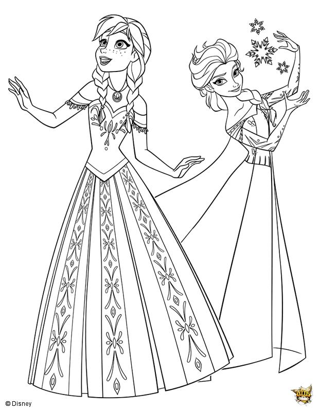 Elsa et la reine des neiges est un coloriage de la reine des neiges - Jeux gratuit la reine des neige ...