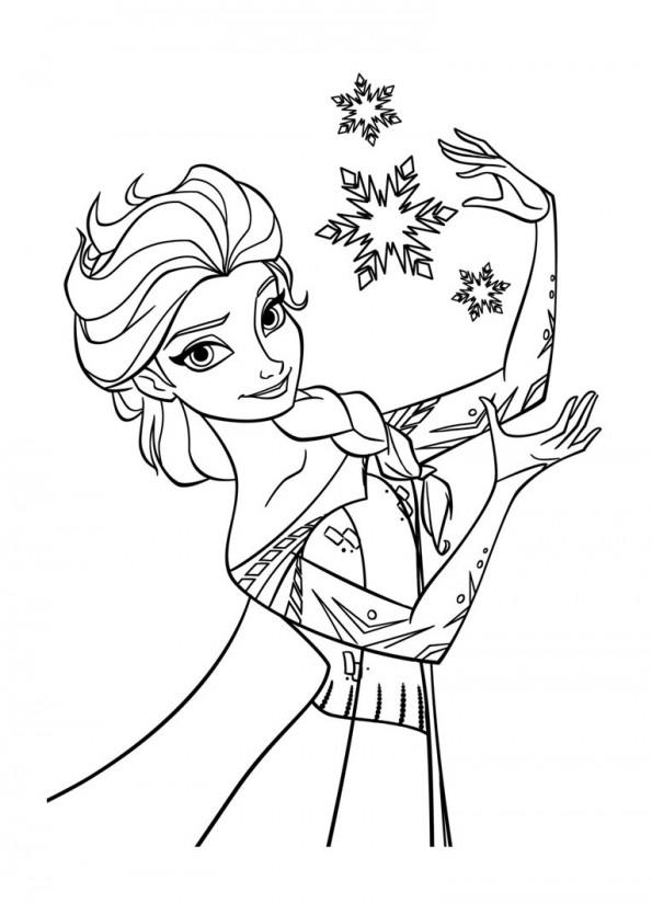 Coloriage Reine Des Neiges Elsa.Elsa Magicienne Est Un Coloriage De La Reine Des Neiges