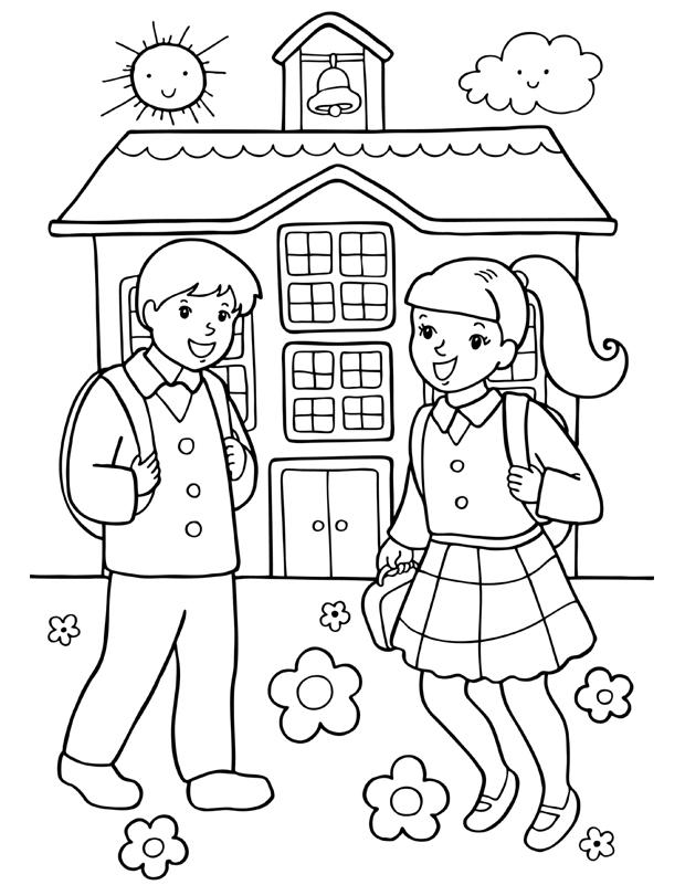 Enfants l 39 cole est un coloriage d 39 cole imprimer - Coloriage d un enfant ...