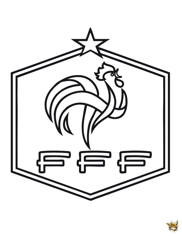 Coloriage equipe de france cussion de l 39 quipe imprimer - Coloriage de logo de foot ...