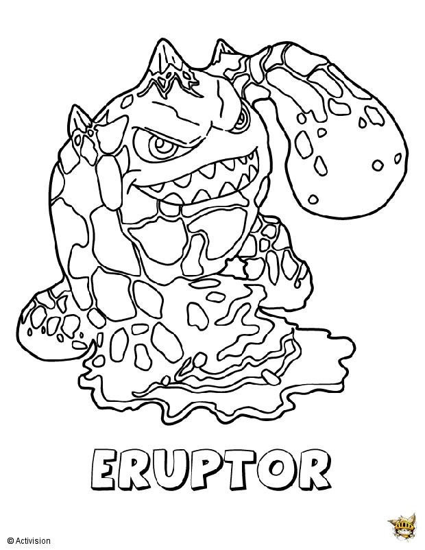 Eruptor est un coloriage de skylanders - Coloriages skylanders ...