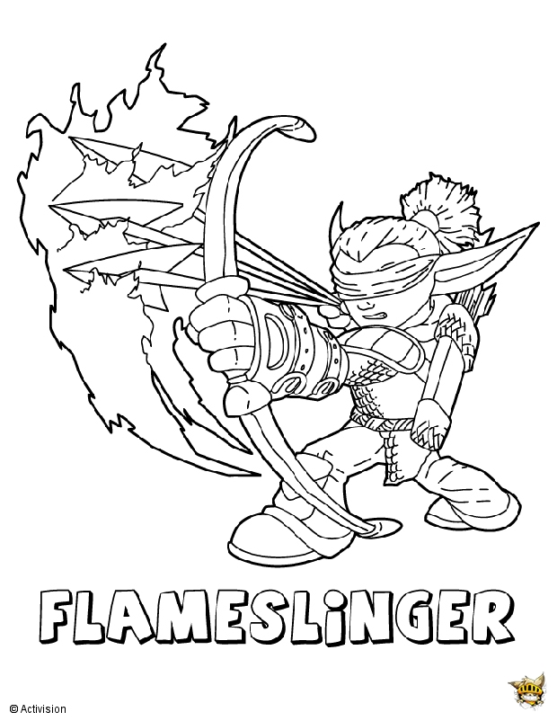 Skylander Coloring Pages Flashwing Facebook