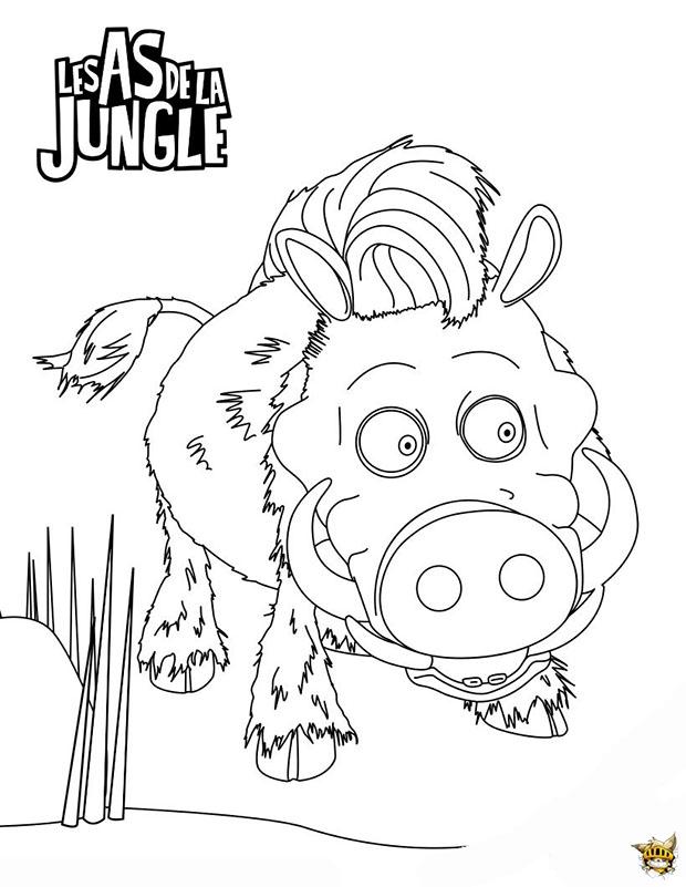 Fred le phacoch re est un coloriage des as de la jungle - Jeux des as de la jungle ...
