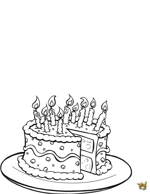 Un g teau d 39 anniversaire colorier et imprimer - Gateau d anniversaire a colorier ...