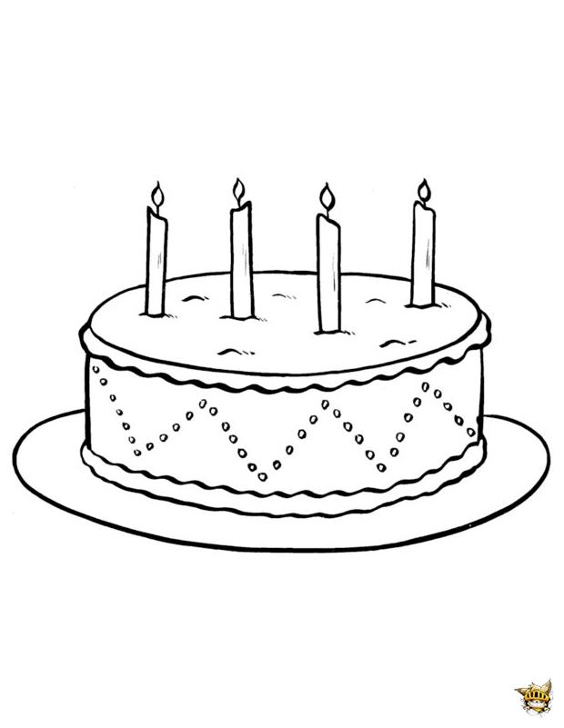 G teau bougies est un coloriage d 39 anniversaire imprimer - Dessin sur gateau anniversaire ...
