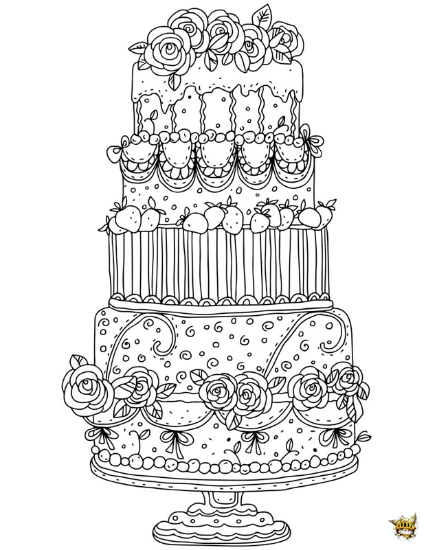 Un Gâteau Géant à Colorier Et à Imprimer