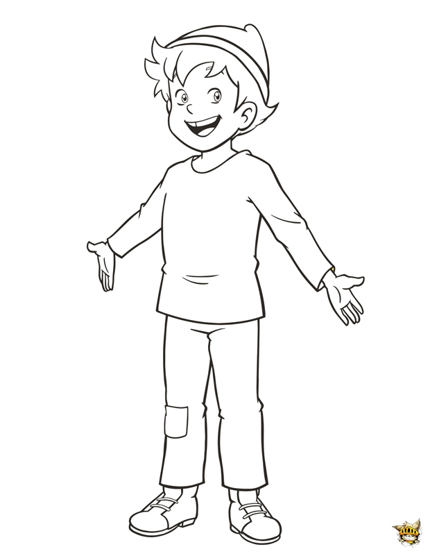 Peter l 39 ami de heidi colorier et imprimer - Haidi dessin anime ...