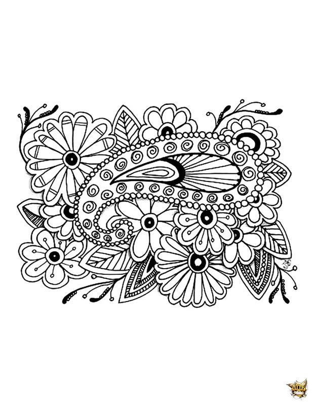 Coloriage Adulte Histoire.Coloriage Histoire De Fleurs Zen Pour Adultes