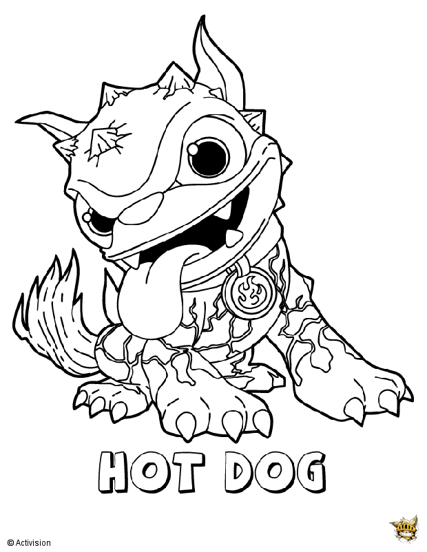 Hot dog pose est un coloriage de skylanders - Coloriage skylanders giants ...
