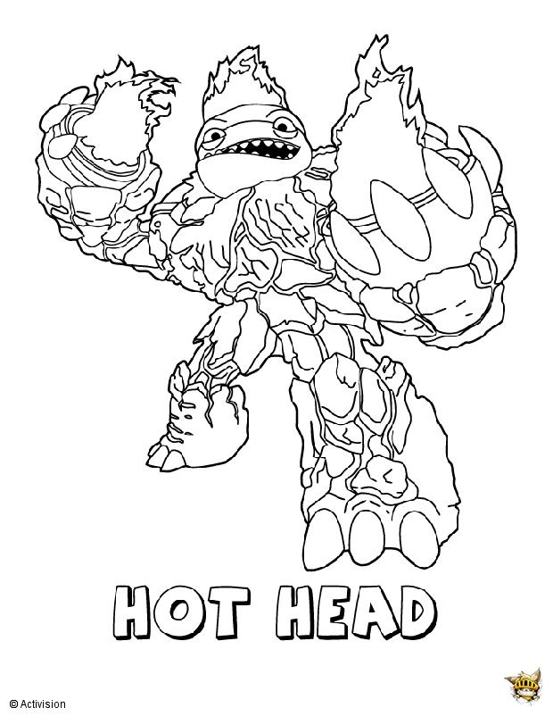 Hot head est un coloriage de skylanders - Dessin de skylanders ...
