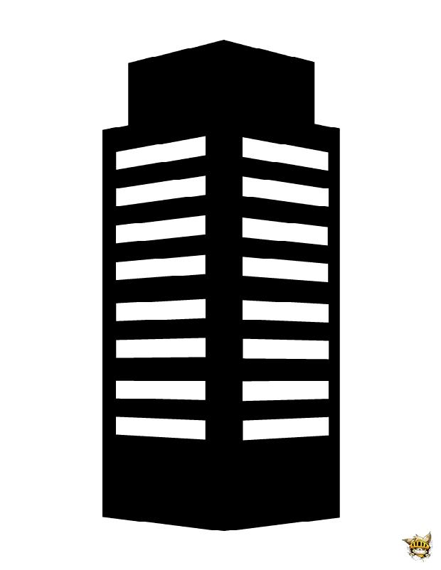 Immeuble Est Une Silhouette A Imprimer