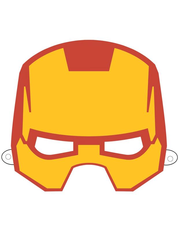 Masque de iron man imprimer et d couper - Masque iron man adulte ...