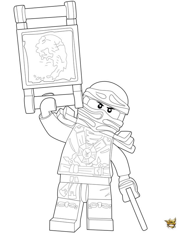 Coloriage Jay Combat Ninjago Sur Ludinet Fr