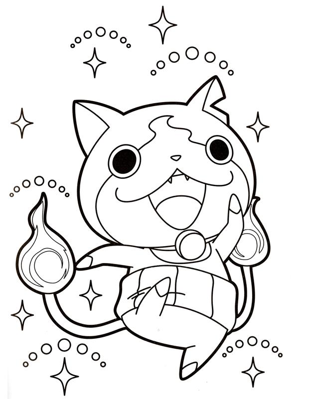 Jibanyan saute est un coloriage de Yo-Kai Watch