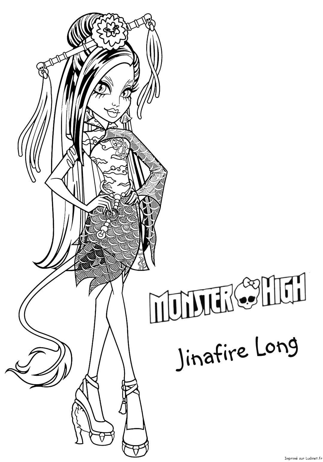 Jinafire long est un coloriage de monster high - Coloriage de monster ...
